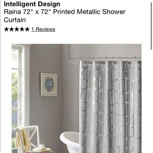 Metallic/Grey Shower Curtain